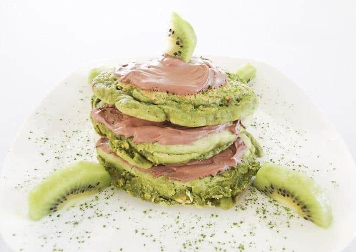 Green Tea Shamrock Pancakes