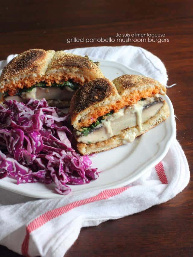 Grilled Portobello Mushroom Burgers