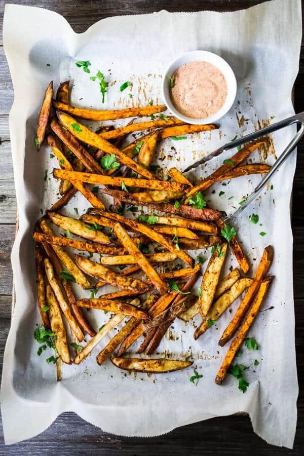 Harissa Baked Sweet Potato Fries