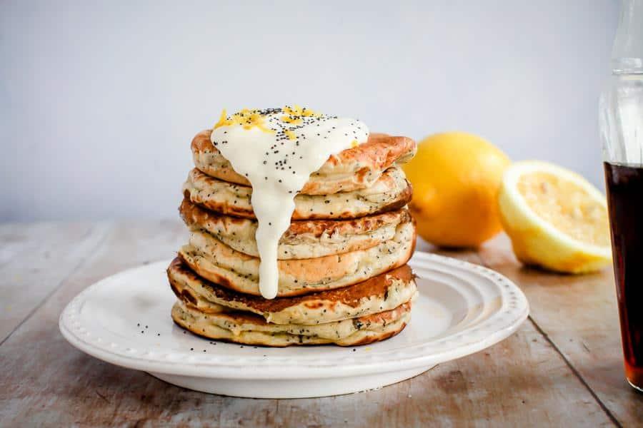 Lemon Poppy Seed Pancakes