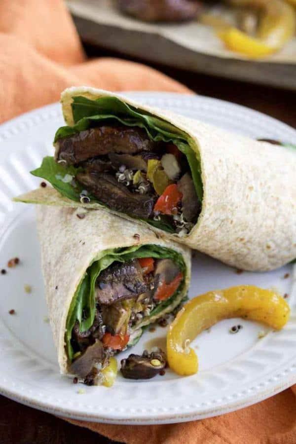 Portobello Mushroom Veggie Wraps
