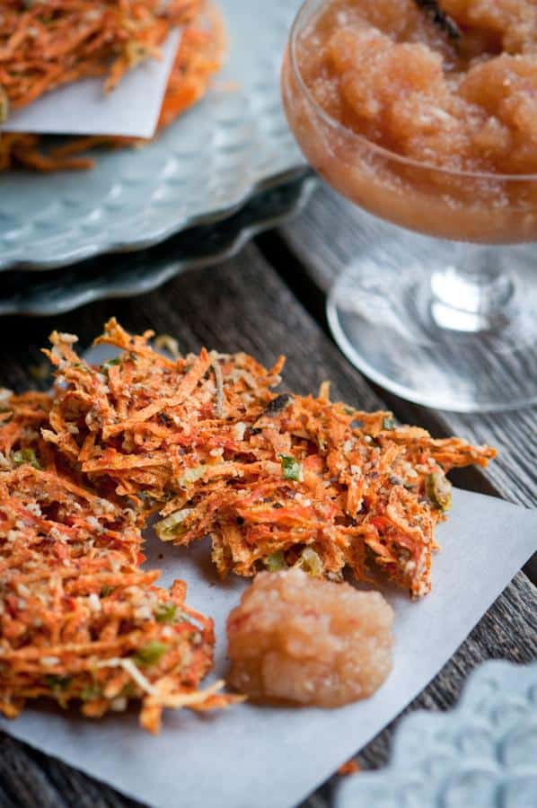 Raw Yam and Carrot Savory Pancakes