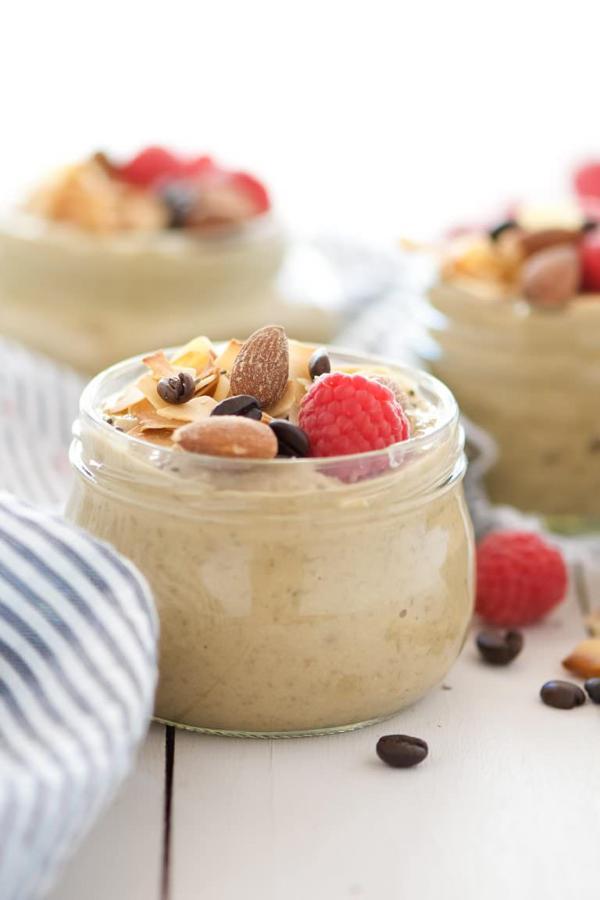 Almond, Coconut and Vanilla Latte Overnight Oats