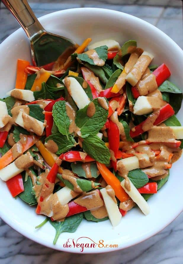 Apple Pepper Salad With Sweet 'N' Spicy Cream Dressing