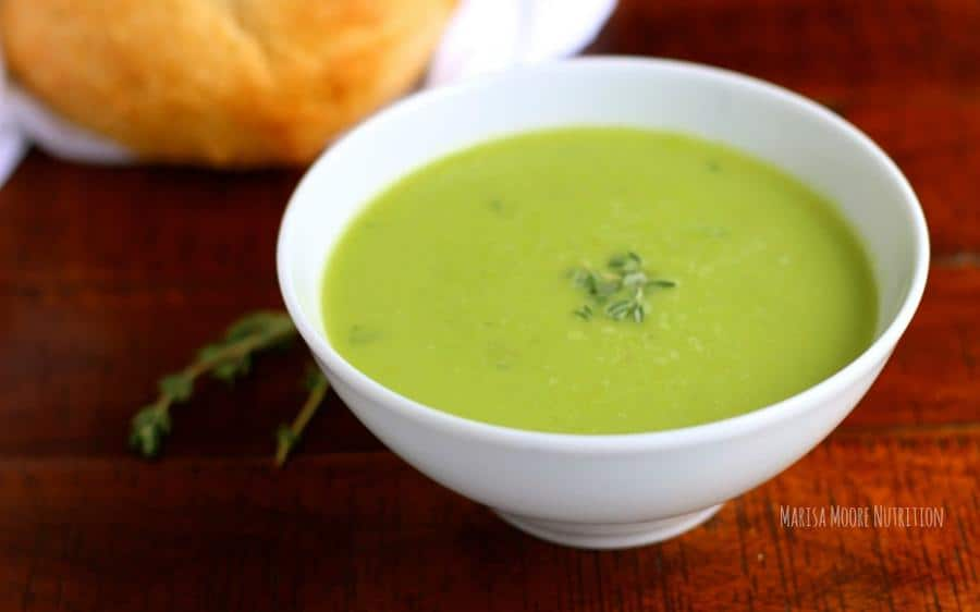 Asparagus and Sweet Pea Soup