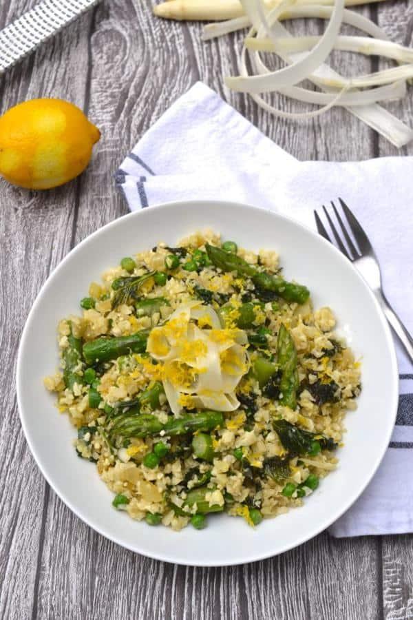 Asparagus, Kale and Pea Lemon Risotto