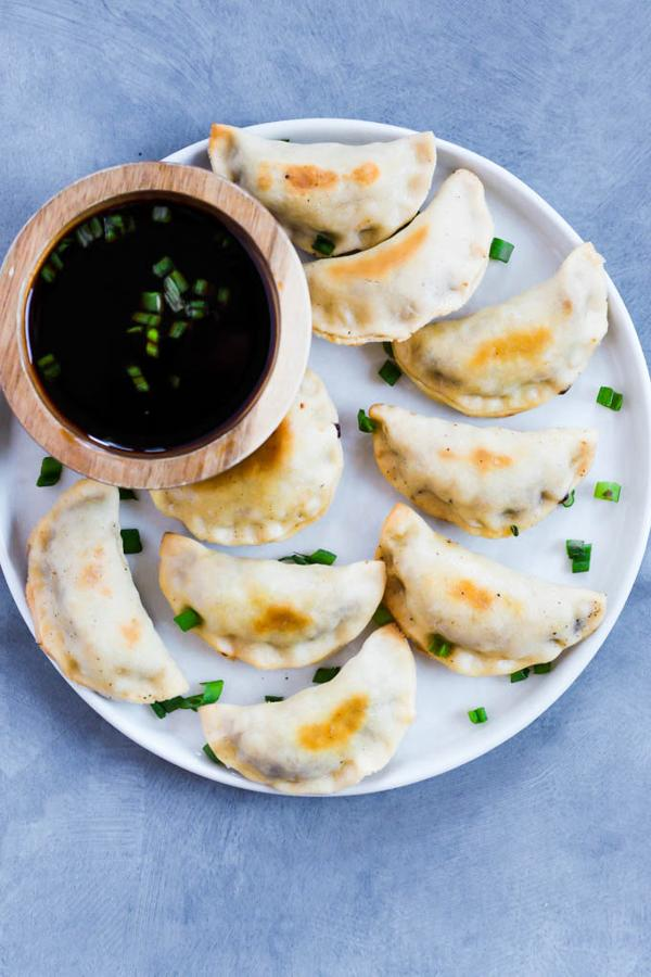 Baked Sticky Tempeh Potstickers