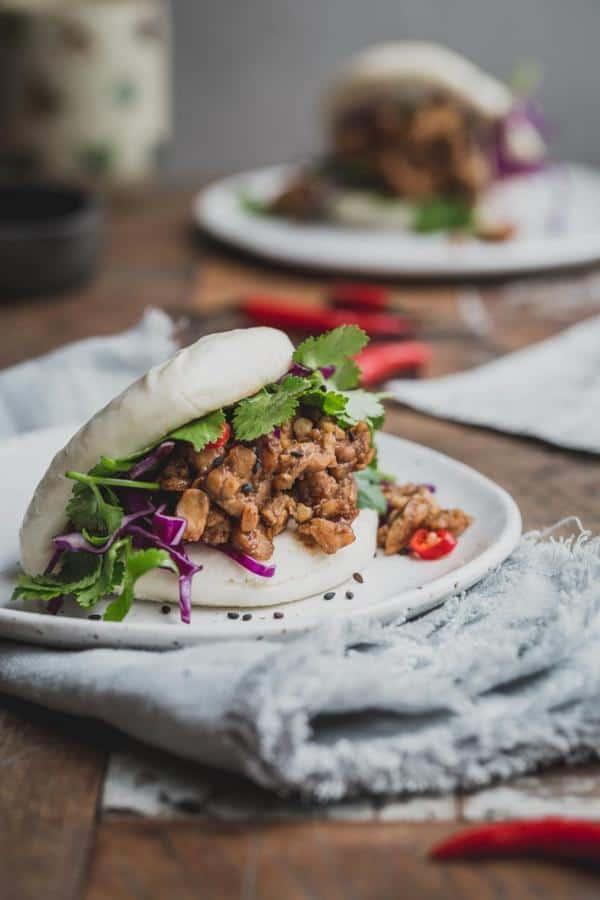 Bao Burger with Peking Tempeh