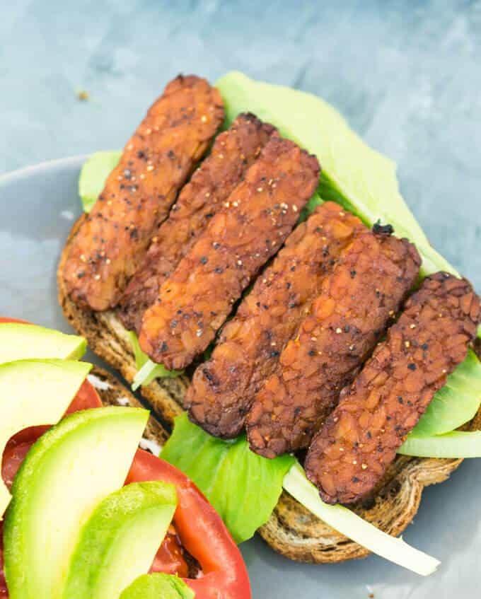 Black Pepper Tempeh Bacon