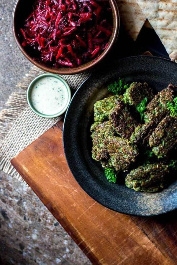Broad Bean Falafel with Tahini Sauce