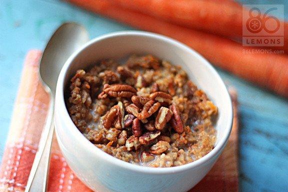 Carrot Cake and Zucchini Bread Oatmeal