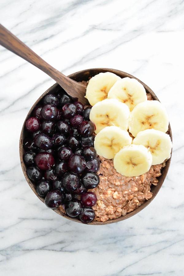 Chocolate Cauliflower Protein Overnight Oats