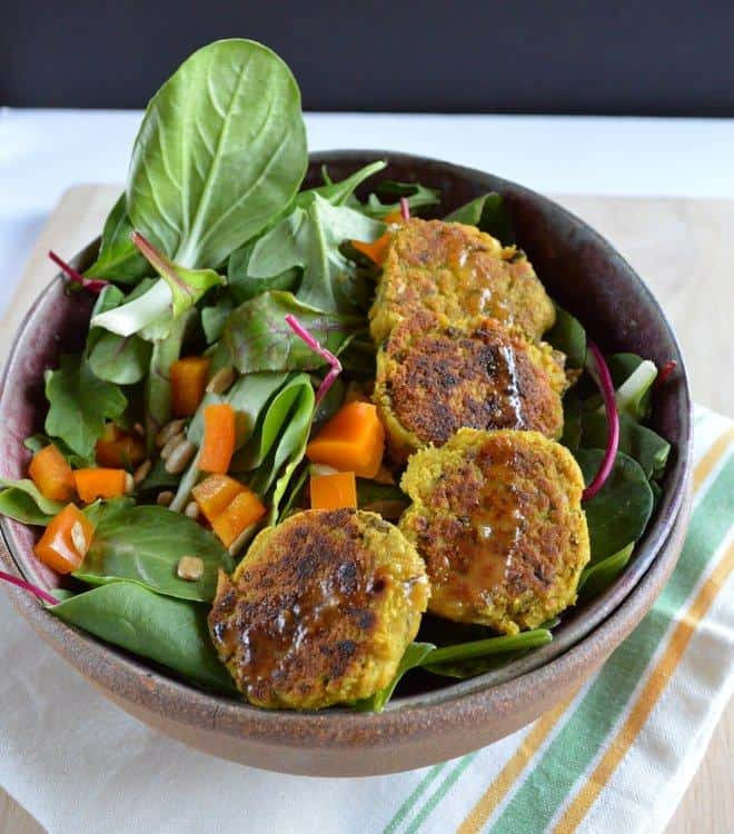 Curry Basil Falafel