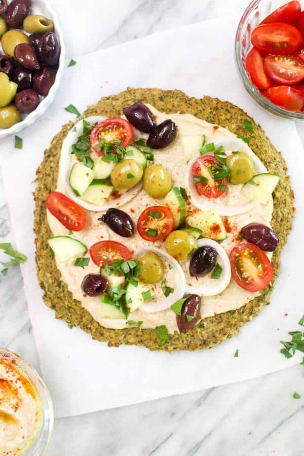 Healthy Falafel Pizza