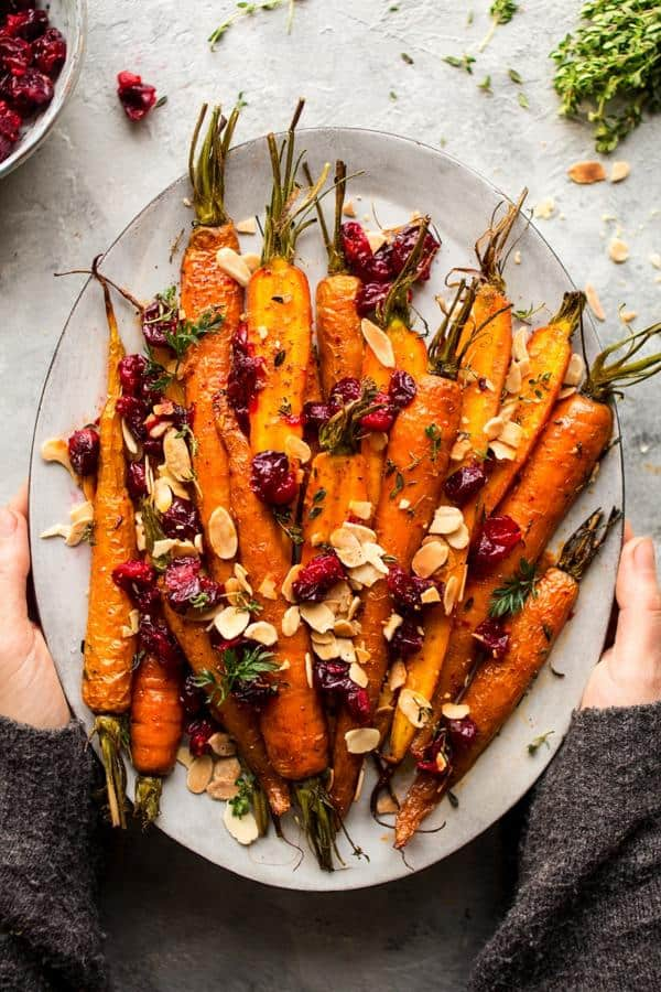 Maple Roasted Carrots with Cranberries