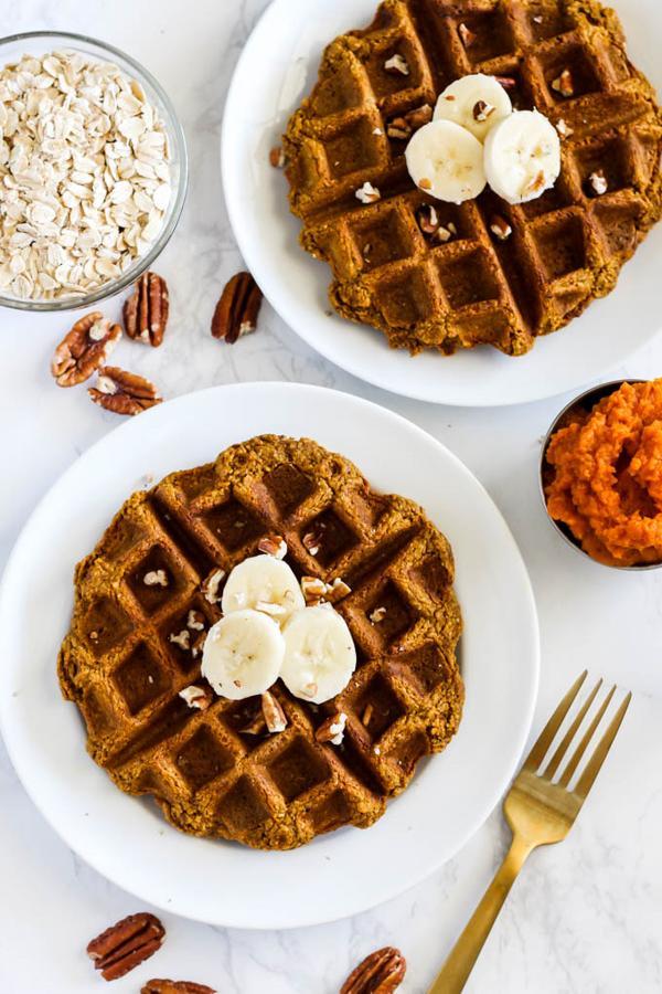 Oatmeal Pumpkin Waffles