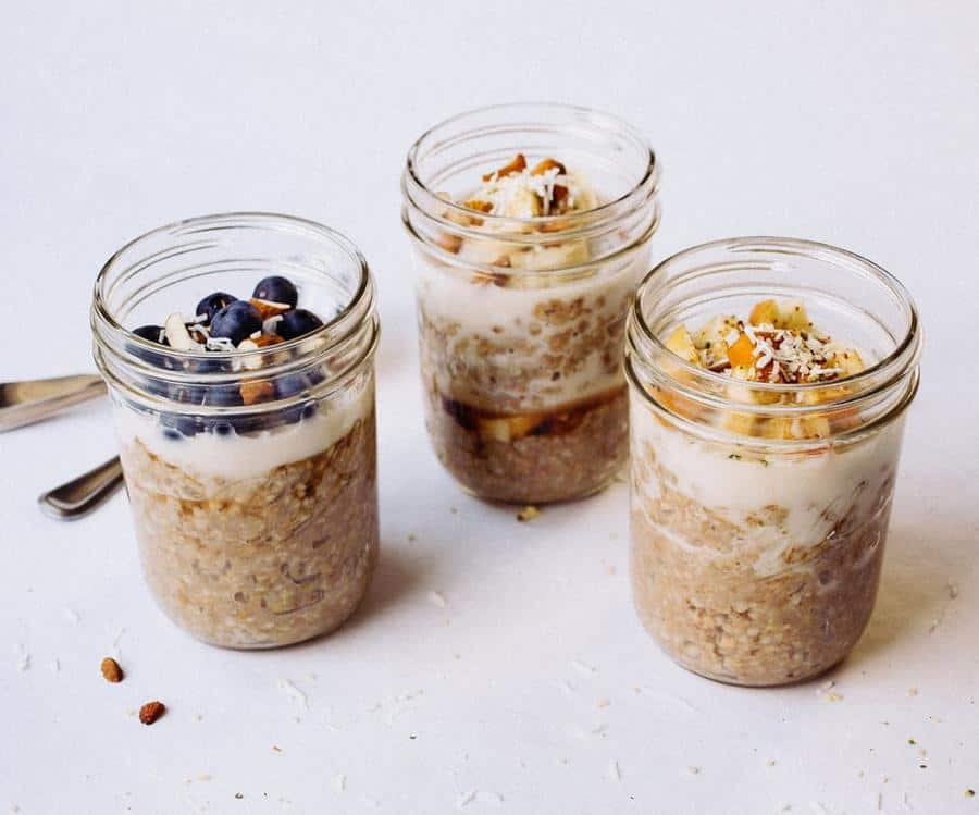 Overnight Buckwheat and Steel Cut Oats Breakfast Jars