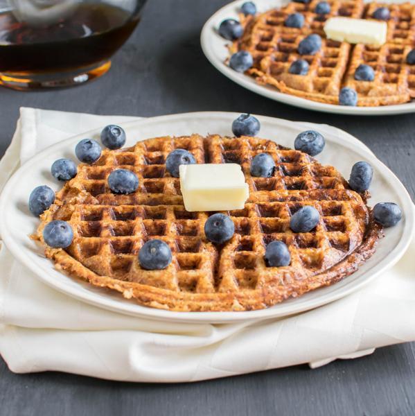 Peanut Butter Bulgur Waffles