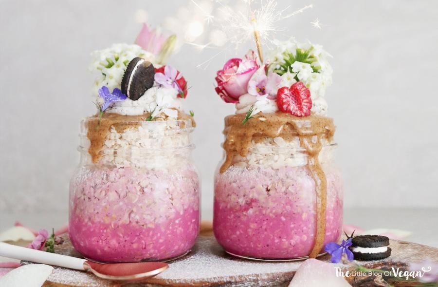 Raspberry Ombré Overnight Oats