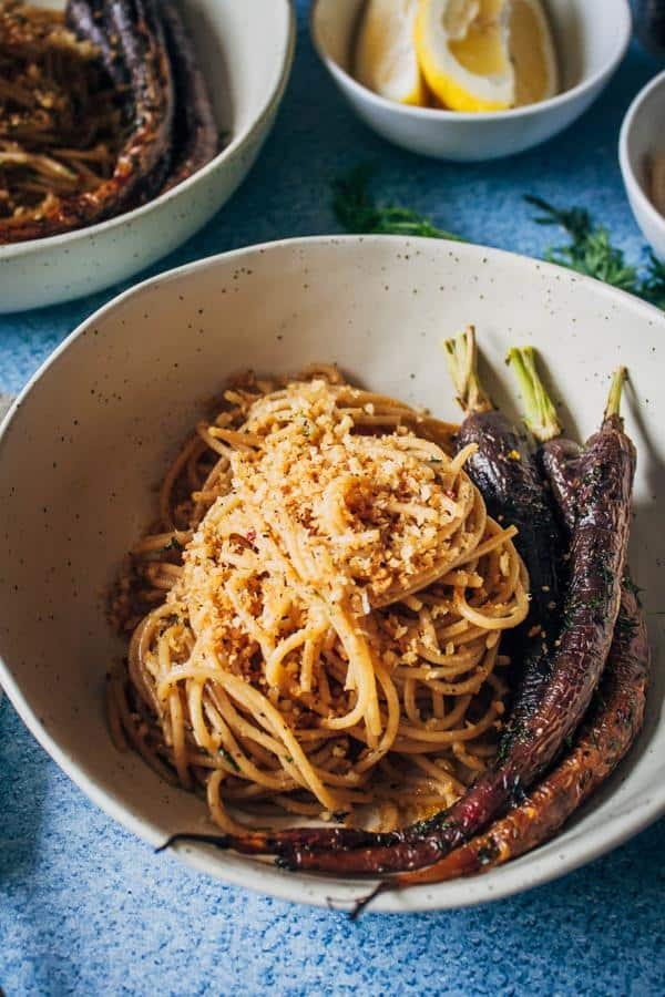 Roasted Heirloom Carrots with Black Pepper Pasta