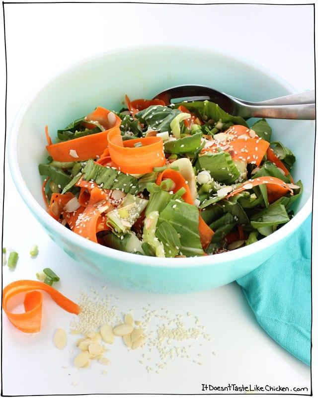 Sesame Bok Choy and Carrot Salad