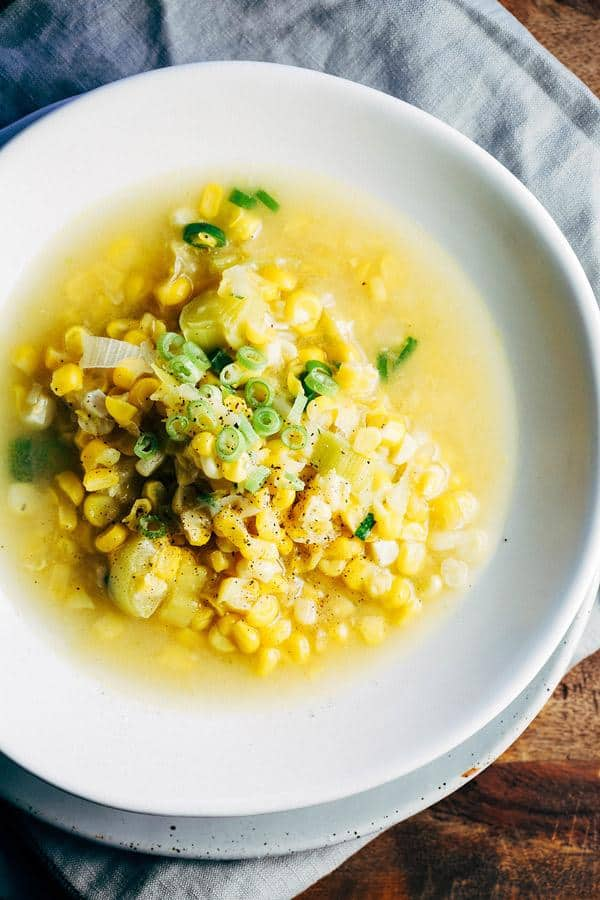Simple Sweetcorn and Leek Soup