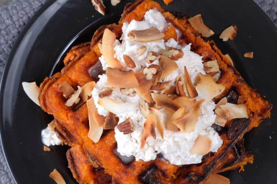 Sweet Potato Dessert Waffles