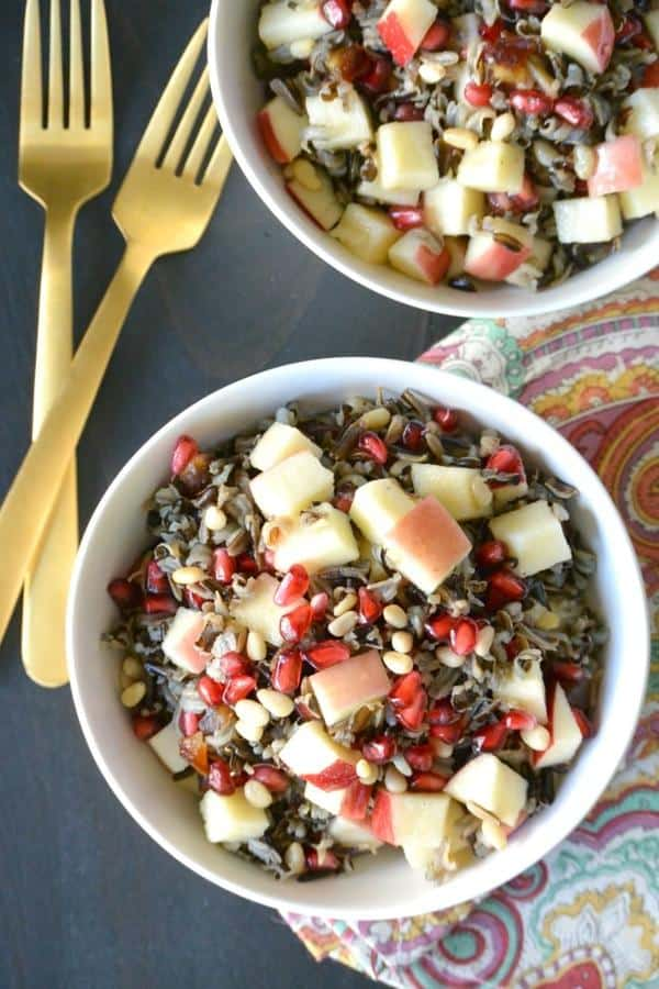 Wild Rice Salad With Apple and Pomegranate