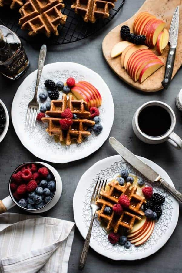 Apple Oatmeal Blender Waffles